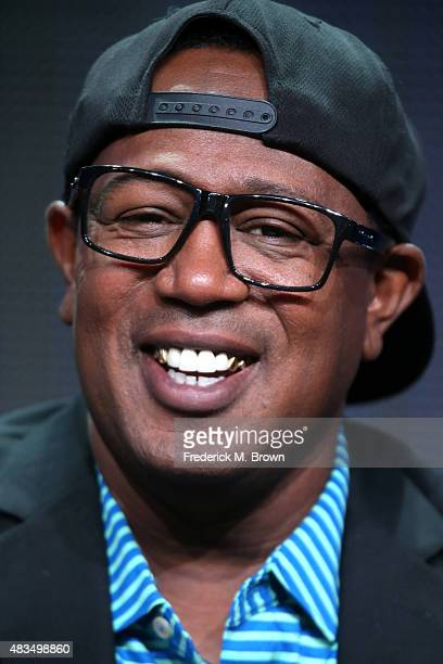 Rapper Master P speaks onstage during the 'Master P's Family Empire' panel discussion at the Reelz portion of the 2015 Summer TCA Tour at The Beverly...