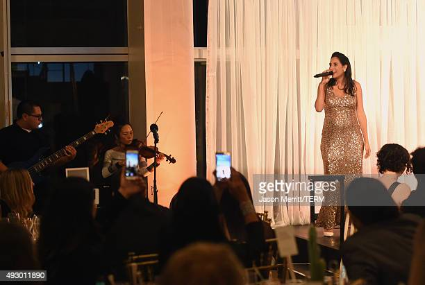 Rapper Maya Jupiter performs onstage at The 44th Annual Peace Over Violence Humanitarian Awards at Dorothy Chandler Pavilion on October 16 2015 in...
