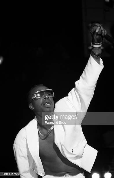 Rapper MC Hammer performs at the Indianapolis Convention Center in Indianapolis, Indiana in April 1989.