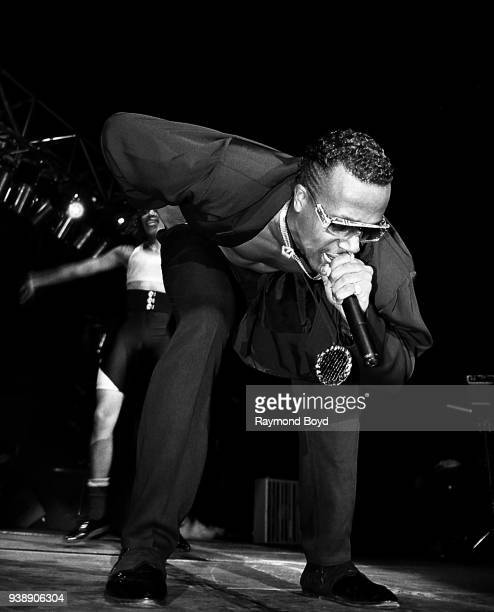 Rapper MC Hammer performs at the Kemper Arena in Kansas City Missouri in April 1989