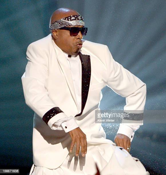 Rapper MC Hammer performs onstage during the 40th American Music Awards held at Nokia Theatre LA Live on November 18 2012 in Los Angeles California