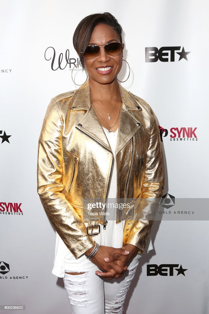 Rapper MC Lyte at MC Lyte Honors Remy Ma & Wale During the 5th Year Anniversary Celebration of Hip Hop Sisters Foundation at Wilshire Lofts on June 23, 2017 in Los Angeles, California.