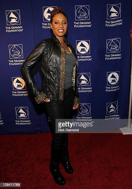 Rapper MC Lyte attends the 53rd Annual GRAMMY Awards Music Preservation Project 'Word Revolution' at the Wilshire Ebell Theatre on February 10 2011...