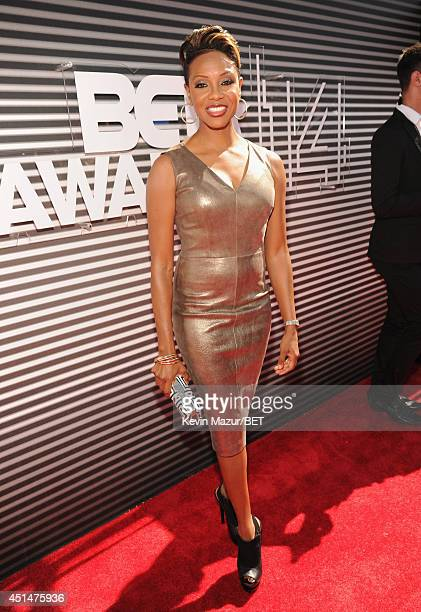Rapper MC Lyte attends the BET AWARDS '14 at Nokia Theatre LA LIVE on June 29 2014 in Los Angeles California