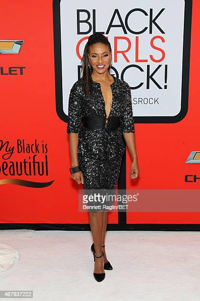 Rapper MC Lyte attends the BET's 'Black Girls Rock' Red Carpet sponsored by Chevrolet at NJPAC – Prudential Hall on March 28 2015 in Newark New Jersey