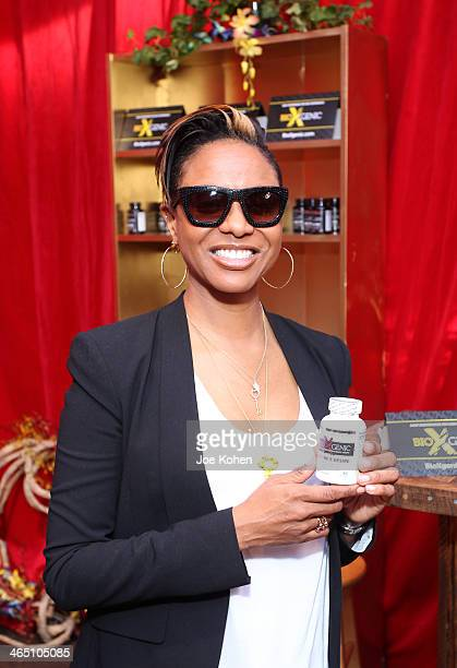 Rapper MC Lyte attends the GRAMMY Gift Lounge during the 56th Grammy Awards at Staples Center on January 25 2014 in Los Angeles California