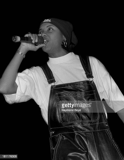 Rapper MC Lyte performs at the Regal Theater in Chicago Illinois in MARCH 1993