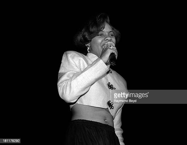 Rapper MC Lyte performs at the UIC Pavilion in Chicago Illinois in MARCH 1990