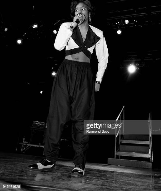 Rapper MC Lyte performs at the UIC Pavilion in Chicago Illinois in November 1989