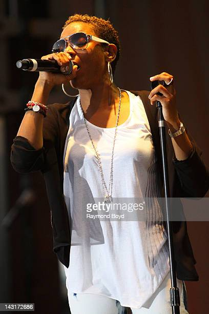 Rapper MC Lyte performs during the Woodstars Charity Concert in Maywood Illinois on JULY 29 2011