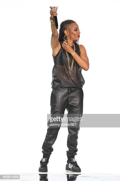 Rapper MC Lyte performs onstage during the BET Hip Hop Awards 2014 at Boisfeuillet Jones Atlanta Civic Center on September 20 2014 in Atlanta Georgia