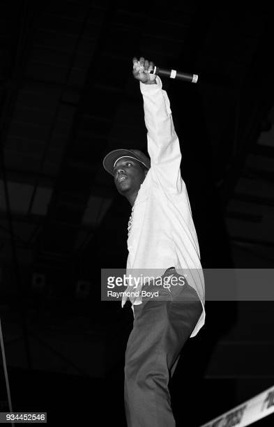 Rapper MC Ren from NWA performs during the 'Straight Outta Compton' tour at the Mecca Arena in Milwaukee Wisconsin in June 1989