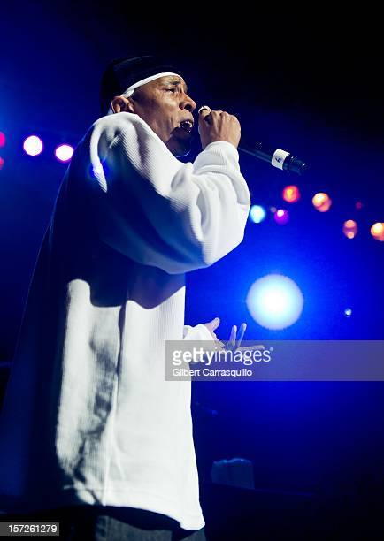 Rapper MC Shan performs during the Hip Hop Gods Classic Tourfest Revue at the Liacouras Center on November 30 2012 in Philadelphia City