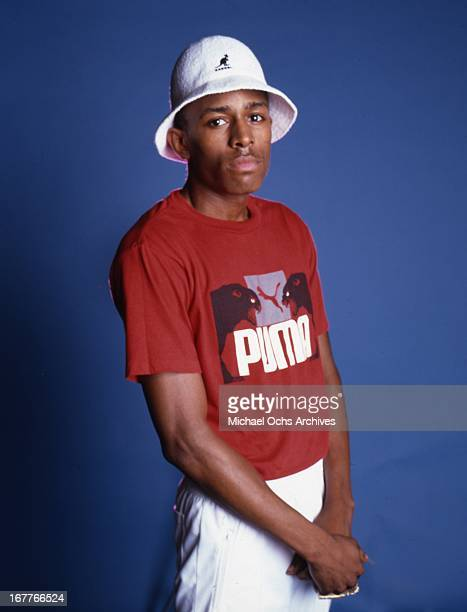 Rapper MC Shan poses for a portrait session wearing a Kangol hat and a Puma  Tshirt 3e5b1e56dcb8