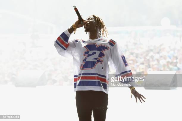 Rapper Meechy Darko of Flatbush Zombies performs onstage during the Meadows Music and Arts Festival Day 2 at Citi Field on September 16 2017 in New...