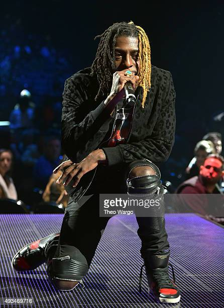 Rapper Meechy Darko of Flatbush Zombies performs onstage during TIDAL X 1020 Amplified by HTC at Barclays Center of Brooklyn on October 20 2015 in...