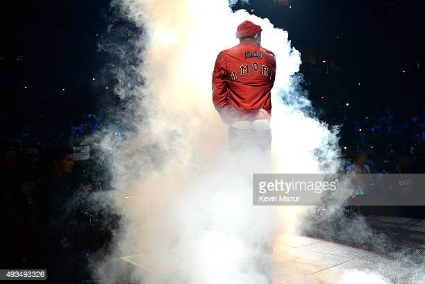 Rapper Meek Mill performs onstage during TIDAL X 1020 Amplified by HTC at Barclays Center of Brooklyn on October 20 2015 in New York City