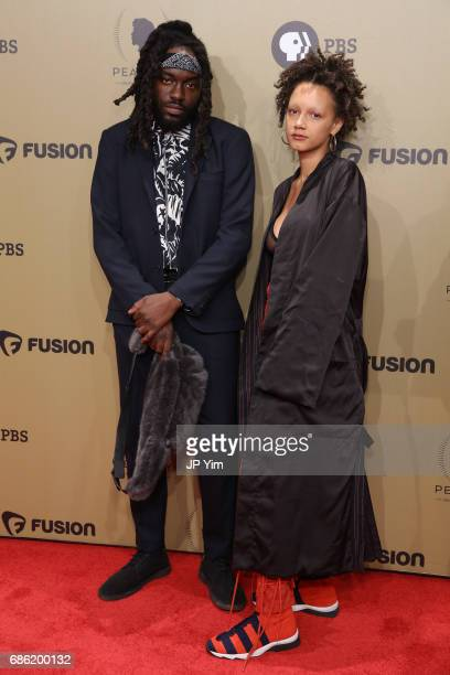 Rapper MeLoX and artist Corey Wash attend The 76th Annual Peabody Awards Ceremony at Cipriani Wall Street on May 20 2017 in New York City