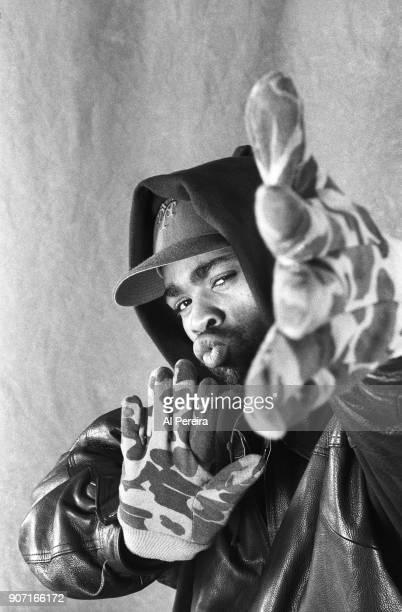 Rapper Method Man poses for a portrait session in November 1993 in New York New York