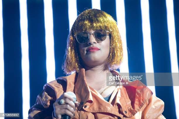 Rapper MIA performs at ComplexCon 2017 on November 5 2017 in Long Beach California
