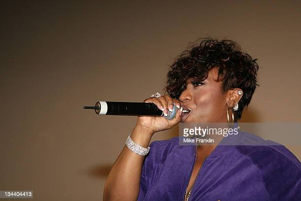 Rapper Missy Elliot attends the MySpace 'Black Curtain Screening' of 'Step Up 2 the Streets' to announce the premier of her 3D video 'ChingALing' on...