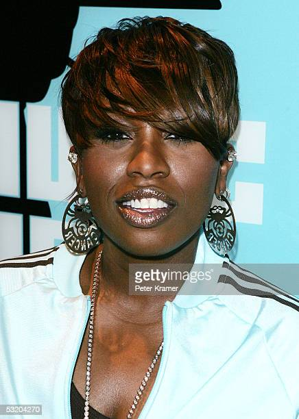 Rapper Missy Elliot makes an appearance on MTV's Total Request Live on July 6 2005 in New York City