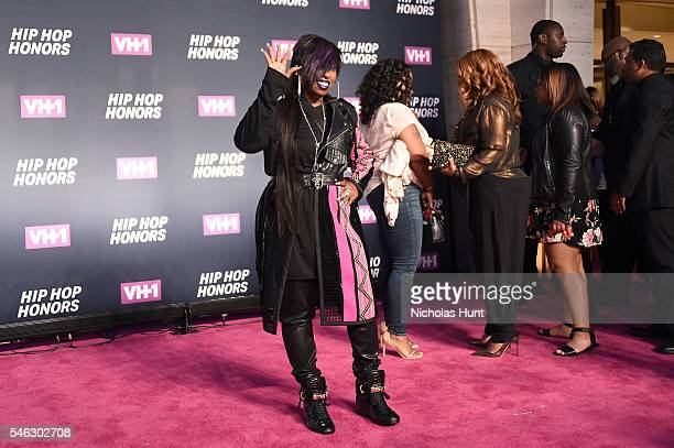 Rapper Missy Elliott attends the VH1 Hip Hop Honors All Hail The Queens at David Geffen Hall on July 11 2016 in New York City