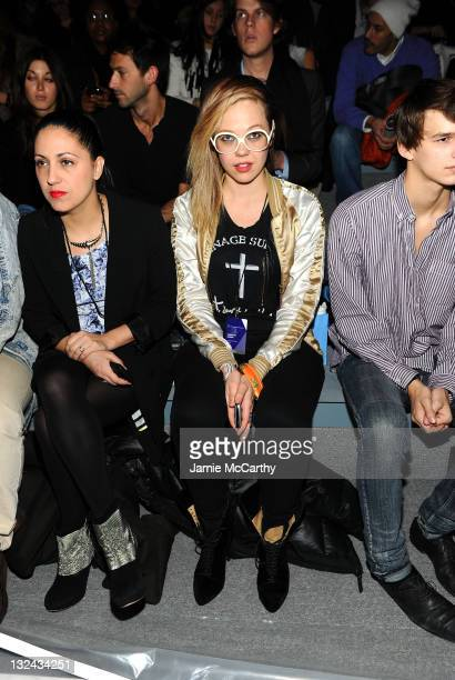 Rapper MNDR attends the Charlotte Ronson Fall 2011 Fashion show presented by Diet Pepsi during MercedesBenz fashion week at The Stage at Lincoln...