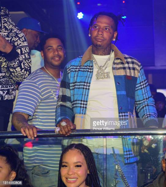 Rapper Moneybagg Yo attends Moneybagg Yo Album Release Party at Republic Lounge on April 24, 2021 in Atlanta, Georgia.