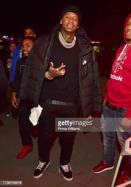 Rapper Moneybagg Yo attends The official Big Game Kick Off Hosted By Yo GottiBernice BurgosMoneybagg Yo at Compound on February 1 2019 in Atlanta...
