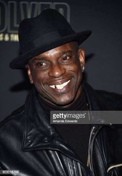 Rapper Mopreme Shakur arrives at the premiere of USA Network's 'Unsolved The Murders of Tupac and The Notorious BIG' at Avalon on February 22 2018 in...