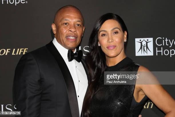 Rapper / Music Producer Dr Dre and his Wife Nicole Young attend the City Of Hope Gala on October 11 2018 in Los Angeles California