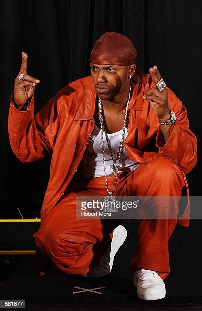 Rapper Mystikal poses backstage during the 2nd Annual BET Awards on June 25 2002 at the Kodak Theater in Hollywood CA