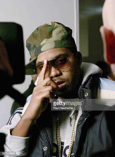 Rapper Nas attends the 35th anniversary of the Addidas superstar sneaker honoring the life of Jam Master Jay at Skylight Studios on February 25 2005...