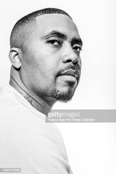 Rapper Nas is photographed for Forbes Magazine on August 22 2018 in New York City PUBLISHED IMAGE CREDIT MUST READ Franco Vogt/The Forbes...