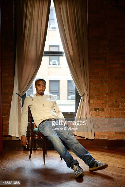 Rapper Nas is photographed for Los Angeles Times on September 29 2014 in New York City