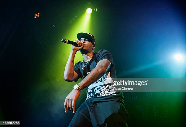 Rapper Nas performs at O2 Academy Glasgow on June 2 2015 in Glasgow United Kingdom
