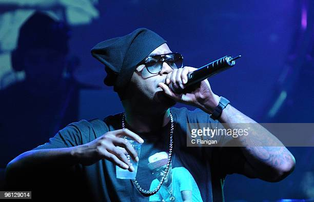 Rapper NAS Performs during the 2010 Sundance Film Festival at Harry O's Nightclub on January 22 2010 in Park City Utah
