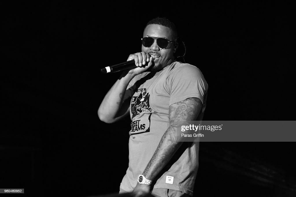 Rapper Nas performs in concert during 2018 Funk Fest Tour at Wolf Creek Amphitheater on May 19, 2018 in Atlanta, Georgia.