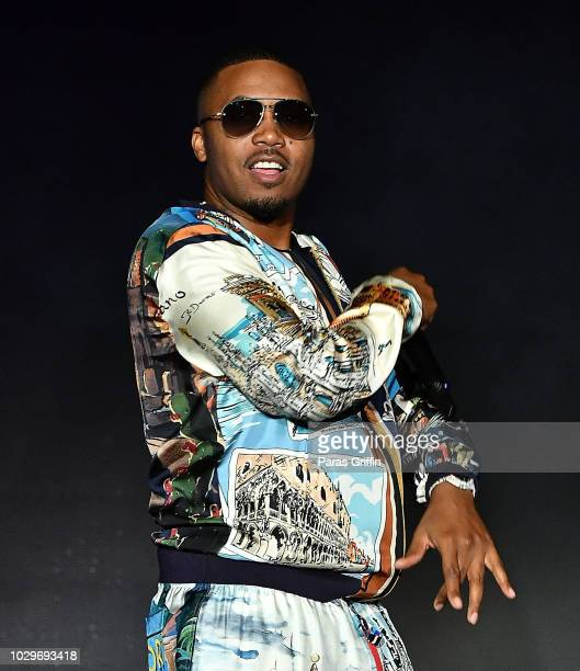 Rapper Nas performs onstage during 2018 ONE Musicfest at Atlanta Central Park on September 8 2018 in Atlanta Georgia