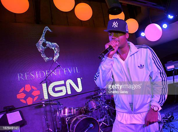Rapper Nas performs onstage during IGN and Capcom's party celebrating the launch of Resident Evil 6 at Lure on September 28 2012 in Hollywood...