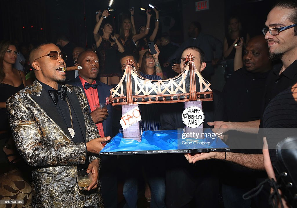 Hennessy V.S Celebrates Nas' 40th Birthday At Tao Nightclub In Las Vegas : News Photo