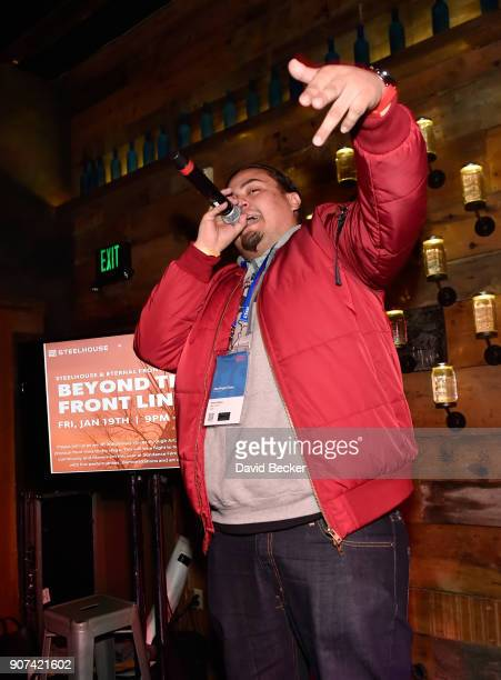 Rapper Nataanii Means performs at Steelhouse and Eternal Front presents Beyond the Front Lines during the 2018 Sundance Film Festival on January 19...