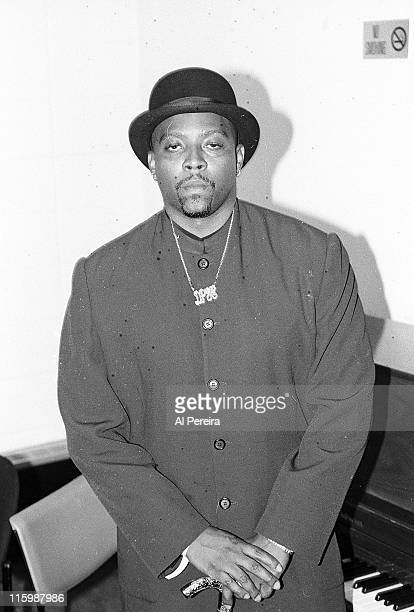 Image has been shot in black and white Color version not available Rapper Nate Dogg attends the 1995 Source HipHop Music Awards at The Theater at...