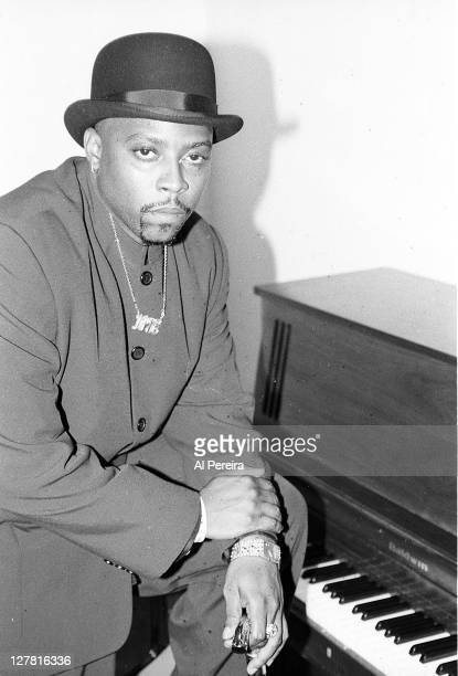 Image has been shot in black and white. Color version not available.) Rapper Nate Dogg attends the 1995 Source Hip-Hop Music Awards at The Theater at...