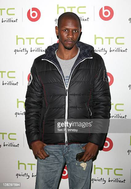Rapper Nathaniel Thompson aka Giggs attends party to celebrate the partnership between HTC and Beats Audio at The Roundhouse on October 6, 2011 in...