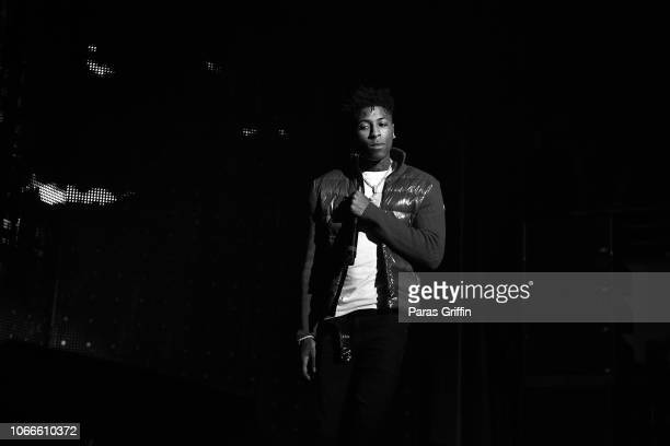 Rapper NBA YoungBoy performs onstage during Lil Baby Friends concert to promote the new release of Lil Baby's new album Street Gossip at CocaCola...