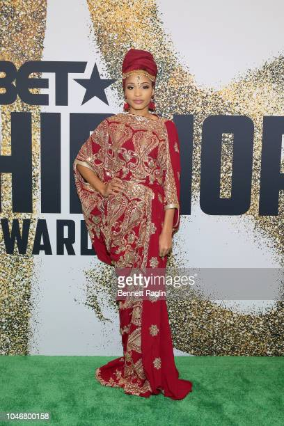 Rapper Neelam Hakeem arrives at the BET Hip Hop Awards 2018 at Fillmore Miami Beach on October 6 2018 in Miami Beach Florida