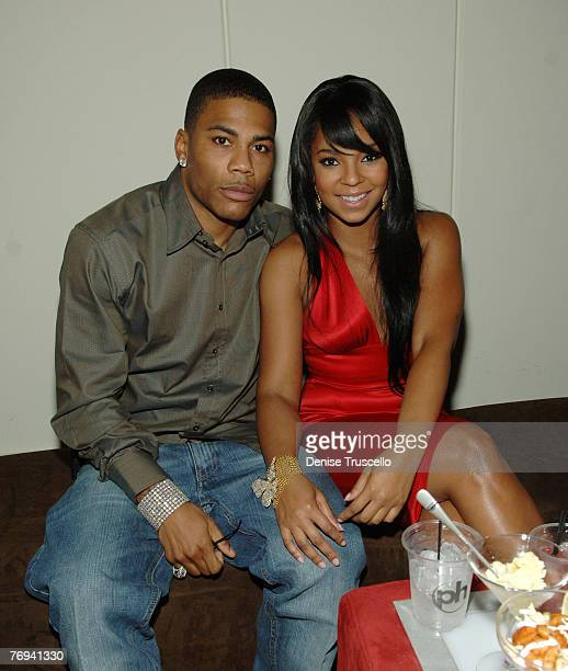 Rapper Nelly and singer/actress Ashanti attend The World Premiere of Resident Evil: Extinction after party at The Planet Hollywood Resort & Casino on...