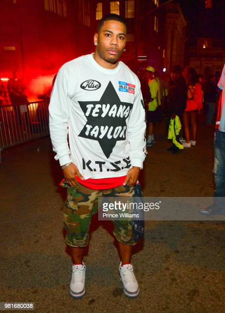 Rapper Nelly attends Teyana Taylor Album Release Party at Universal Studios Hollywood on June 21 2018 in Universal City California